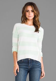 Duffy Striped Sweater in Mint - Lyst