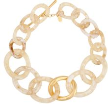 Kara Ross 18kt Gold Twisted Oval Link Necklace - Lyst