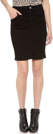 Goldsign Holly Denim Skirt - Lyst