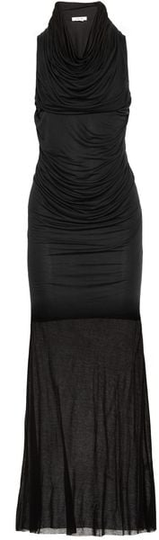 Helmut Lang Draped Modal Jersey Maxi Dress - Lyst