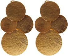 Herve Van Der Straeten Goldplated Pailettes Drop Earrings - Lyst