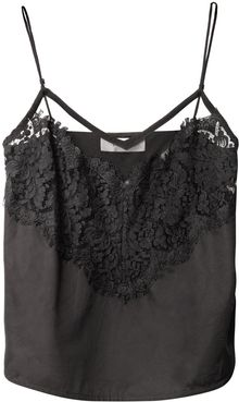 Lover Lace Trim Cotton Camisole - Lyst