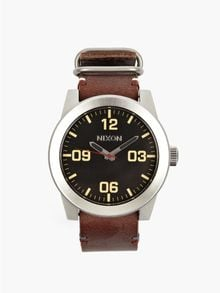 Nixon Brown Corporal Leather Watch - Lyst