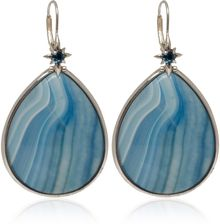 Stephen Dweck Silver Agate and Topaz Teardrop Earrings - Lyst
