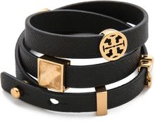 Tory Burch Slide Charm Triple Wrap Bracelet - Lyst