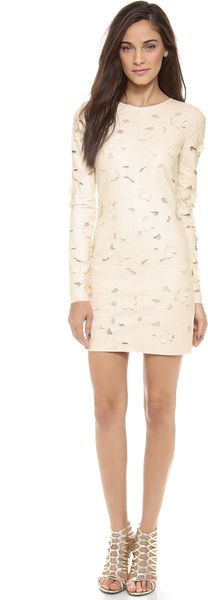 BCBGMAXAZRIA Long Sleeve Cutout Dress - Lyst
