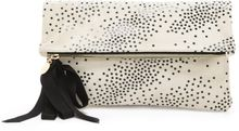 Clare Vivier Star Print Fold Over Clutch - Lyst