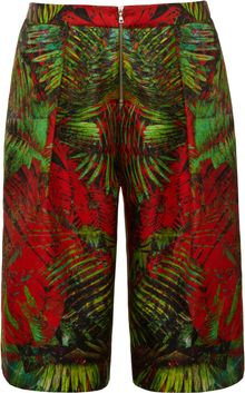 Josh Goot Long Printed Satin Shorts - Lyst
