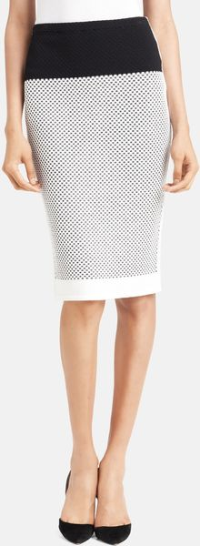 Narciso Rodriguez Micro Graphic Knit Skirt - Lyst