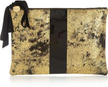Clare Vivier Flat Printed Nubuck Leather Clutch - Lyst