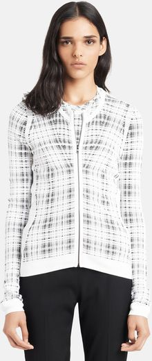 Narciso Rodriguez Patterned Knit Cardigan - Lyst