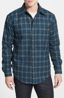 Pendleton Lodge Fitted Virgin Wool Flannel Shirt - Lyst