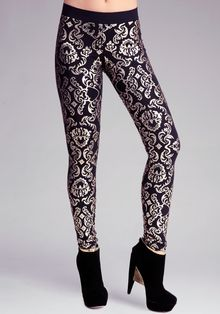 Bebe Damask Printed Leggings - Lyst