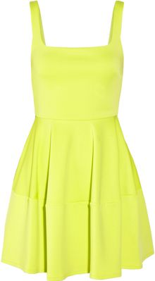 Camilla & Marc Neon Stretch Scuba Flared Mini Dress - Lyst