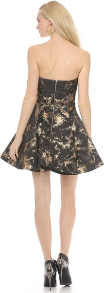 Josh Goot Panel Jacquard Corset Dress - Lyst