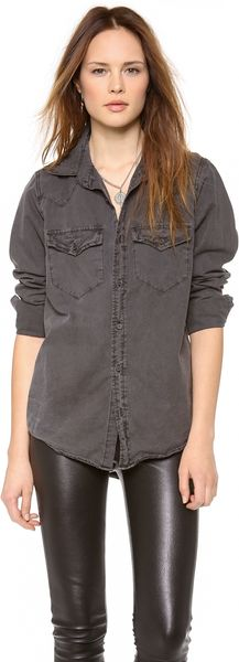 Nsf Clothing Lesli Button Down Shirt - Lyst