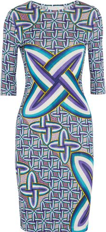 Peter Pilotto Edie Printed Jersey Crepe Dress - Lyst