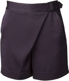 3.1 Phillip Lim Draped Crossover Short - Lyst