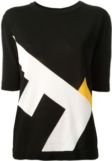 Fendi Logo Print Sweater - Lyst