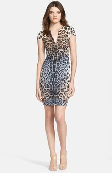Just Cavalli Animal Print Cap Sleeve Dress - Lyst