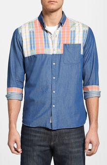 7 Diamonds Language Of My World Plaid Woven Shirt - Lyst