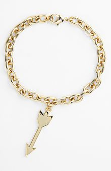 Ariella Collection Arrow Charm Bracelet - Lyst