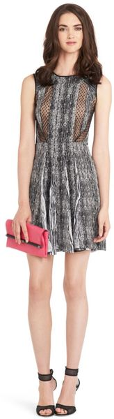 Diane Von Furstenberg Ida Printed Silk Dress - Lyst