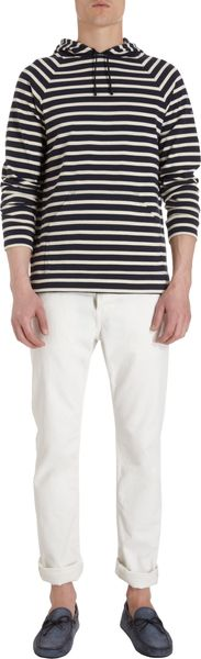 Saint James Raglan Sleeve Striped Hoodie - Lyst