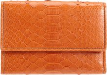 Zagliani Python French Flap Wallet - Lyst