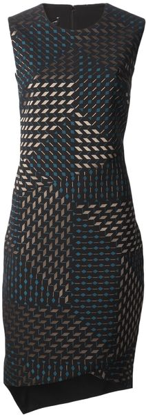 Narciso Rodriguez Square Print Dress - Lyst
