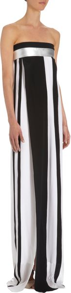 Narciso Rodriguez Striped Strapless Gown - Lyst