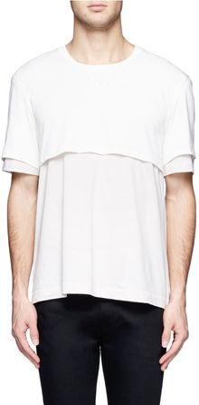 Acne Layered Cotton T-Shirt - Lyst