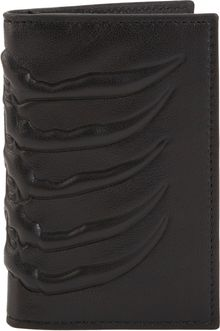 Alexander McQueen Spineembossed Credit Card Holder - Lyst