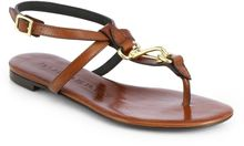 Burberry Reason Leather Thong Sandals - Lyst