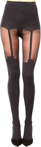 House Of Holland Super Suspender Tights - Lyst