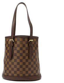 Louis Vuitton  Brown Damier Ebene Canvas Marais Tote - Lyst