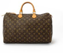 Louis Vuitton  Brown Monogram Canvas Speedy 40 Bag - Lyst