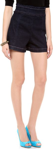 Sonia By Sonia Rykiel Denim High Waisted Shorts - Lyst