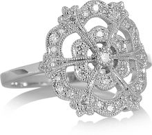 Stone Lace 18karat White Gold Diamond Ring - Lyst
