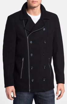 7 Diamonds Big in Japan Double Breasted Peacoat - Lyst