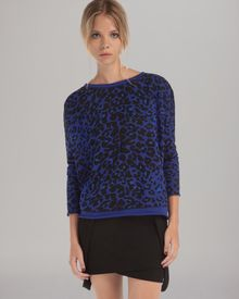 Maje Sweatshirt Animal Print - Lyst
