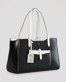 Ralph Lauren Lauren Tote Color Block Davenport Shopper - Lyst
