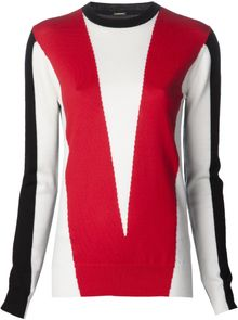 Adam Lippes Intarsia Knit Sweater - Lyst