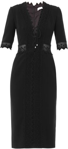 Altuzarra Crochet Trim Fitted Dress - Lyst