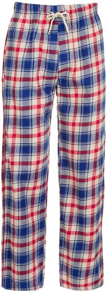 Topman Red Check Woven Pyjama Bottoms - Lyst