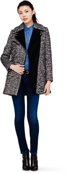 Club Monaco Brooklyn Tweed Wool Coat - Lyst