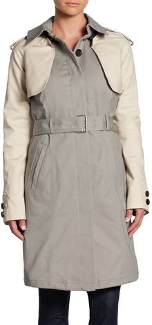 Dawn Levy Sleeveless Convertible Trench Coat - Lyst