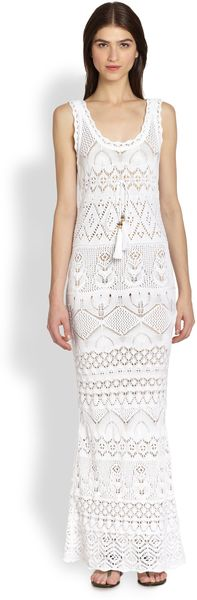 Emilio Pucci Sleeveless Crochetknit Maxi Dress - Lyst