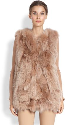 Michael Kors Fox Fur Vest - Lyst