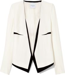 Narciso Rodriguez White and Black Sable Jacket - Lyst